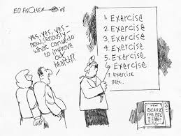 Cartoon: Fat couple hope for other remedy than exercise!